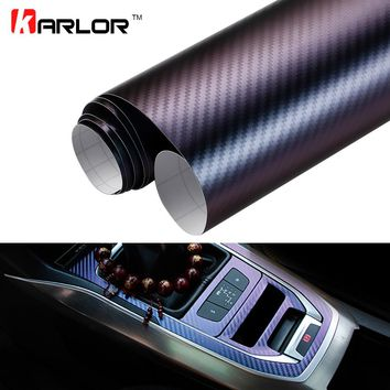 10*100cm Chameleon 3D Carbon Fiber Vinyl Film Wrap Foil Auto Car Truck Body Decoration Sticker Decal Motorcycle Car Styling