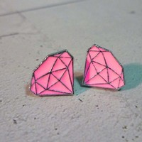 Mini Pink Diamond Earrings