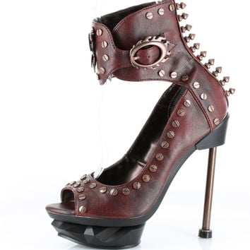 Hades 'Steam Machine' Peep Toe Heels