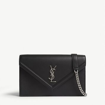 SAINT LAURENT - Monogram leather cross-body bag | Selfridges.com