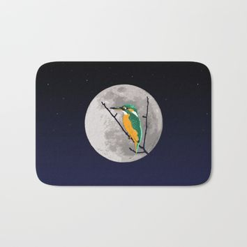 Fly me to the moon Bath Mat by Savousepate