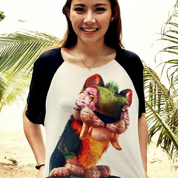 The Croods Chunky Cute Tiger Macawnivore T-Shirt Crop Shirt For Women Free Size