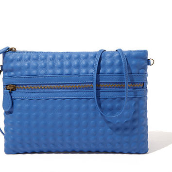 Charming Blue Cross Body Handbag