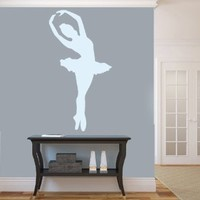 Housewares Vinyl Decal Girl Ballerin Home Wall Art Decor Removable Stylish Sticker Mural Unique Design for Room Ballet Dance Studio