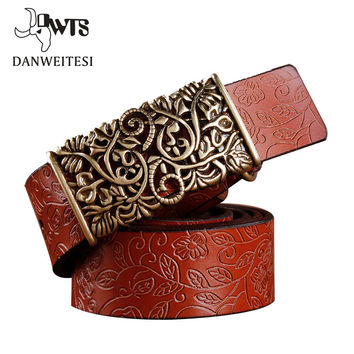 [DWTS] 2016 New ceinture femme belt hand real leather woven strap needle buckle casual style luxury female casual women belts