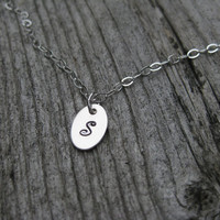 Ankle Bracelet Personalized Sterling Silver Initial
