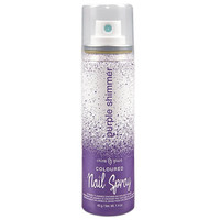 PURPLE SHIMMER COLOURED NAIL SPRAY