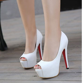 Summer Peep Toe Sexy High Heel Shoes [6044947969]