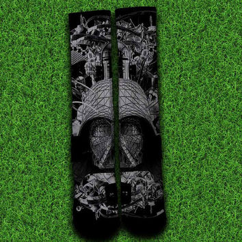 Black White Star Wars Socks,Custom socks,Personalized socks,Elite socks