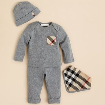Burberry Infant Boys' Hat, Bib, Shirt & Pants Set - Sizes 3-18 Months