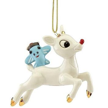 Lift Off Rudolph Ornament by Lenox