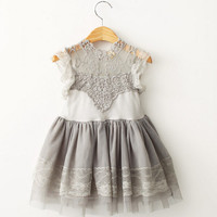 "The ""Isabelle"" Gray Lace Dress"