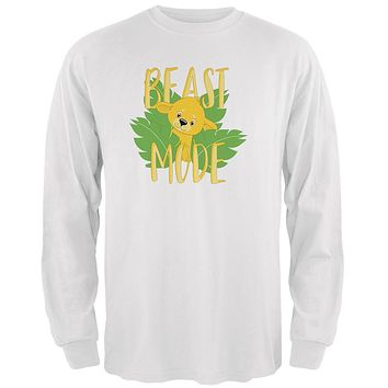 Beast Mode Cute Lion Cub Mens Long Sleeve T Shirt