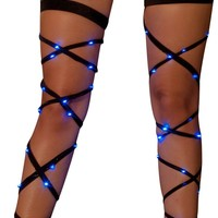 Blue Light Up Leg Wraps