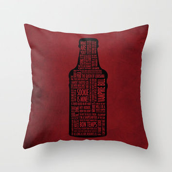 True Blood Throw Pillow by Luke Eckstein