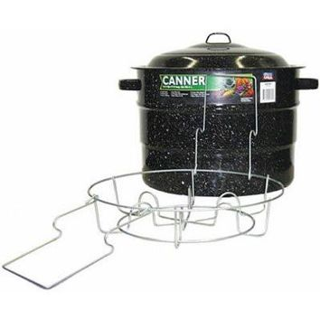 Granite Ware 0707-1 Steel/Porcelain Water-Bath Canner with Rack, 21.5-Quart