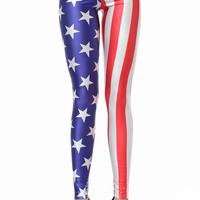 Stars And Striped Skinny Leggings