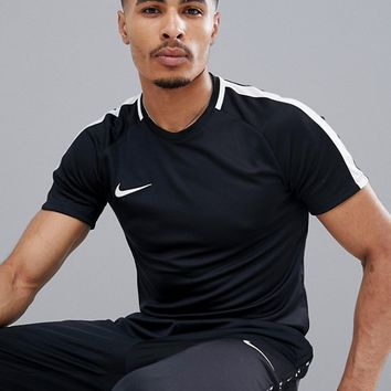 Nike Football Dry Academy T-Shirt In Black 832967-010 at asos.com