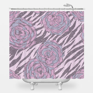 Floral Hipster Shower Curtain