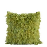 The Well Appointed House by Melissa Hawks. DransField & Ross Ostrich Feather Pillow in Chartreuse
