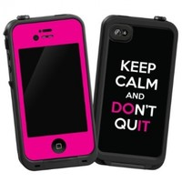 """Keep Calm and Don't Quit """"Protective Decal Skin"""" for LifeProof iPhone 4/4S Case"""