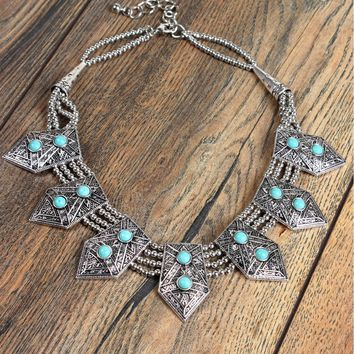 Aztec Aqua Necklace
