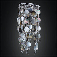GLOW Lighting 611PW1LSP-3C Ensconced 1 Light Wall Sconce with Mother of Pearl Shell and Crystal