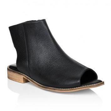 Lts Paris Peep-Toe Leather Boots | Long Tall Sally
