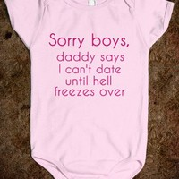 Sorry Boys - Girls Onesuit - Funny - Kids - Tee Time Baby