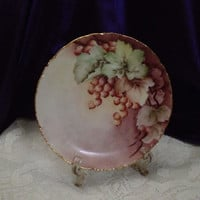 Rosenthal Versailles Currants Display Bread Plate, Small Cabinet Plate, Hand Decorated Berries, Leaves, Vintage Bavarian Decor China