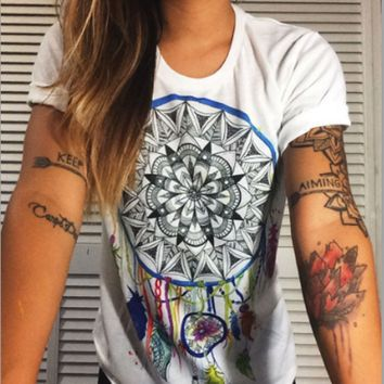 Fashion short-sleeved T-shirt printing