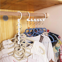8pcs/bag Arrival 3d Space Saving Hanger Cabide Clothes Racks Magic Hanger New Hot Bedroom Decor Organizer Home Tool Racks
