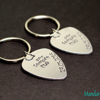 Per Sempre Tuo, Per Sempre Tua, Forever Yours with Anniversary Dates, Custom Keychains, Fully Personalized Wedding Gift, Musician Couple