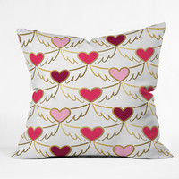 Lisa Argyropoulos Golden Wings of Love White Throw Pillow