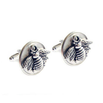 Bumble Bee Men Cufflinks gift for him guys Wedding cuff links