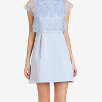 Floral bodice dress - Powder Blue | Dresses | Ted Baker