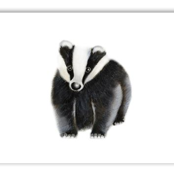 Badger Nursery Art Print