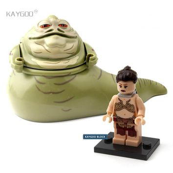 Star Wars Force Episode 1 2 3 4 5 Single Sale  Series Space  Figure Jabba the Hutt Princess Leia Tauntaun Building Blocks Set Model Toys For Children AT_72_6