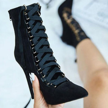 Neveah Lace Up Boots