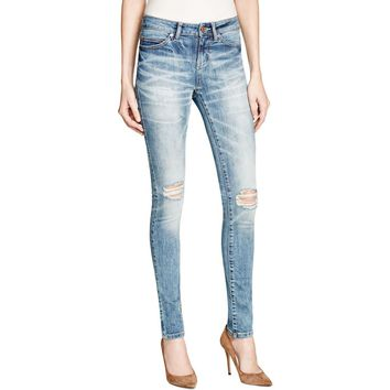 Noisy May Womens Lucy Destroyed Slim Fit Skinny Jeans