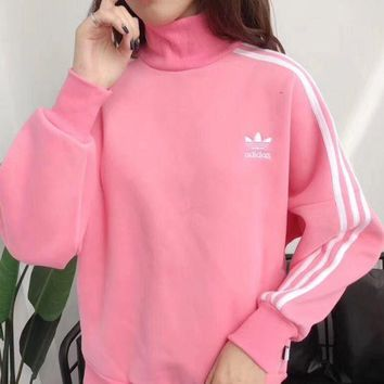 ONETOW Adidas trefoil 2017 female fashion leisure sports sweater hoody