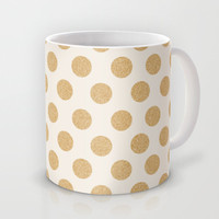 Glittering Gold Dots Mug by Allyson Johnson