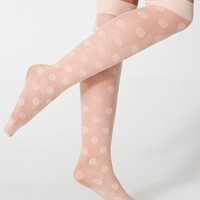 Sheer Luxe Shapes Over-the-Knee Sock | Knee-High Tights | Accessories' Stockings & Hosiery | American Apparel