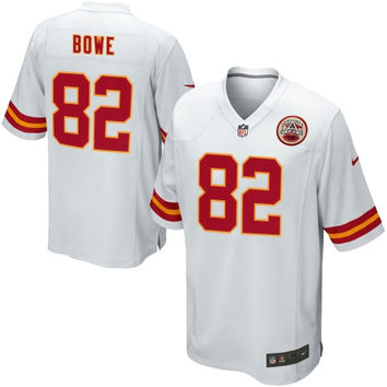 Dwayne Bowe Kansas City Chiefs Nike Youth Game Football Jersey - White - http://www.shareasale.com/m-pr.cfm?merchantID=40295&userID=1042934&productID=549285690