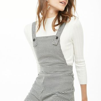 Houndstooth Overall Shorts