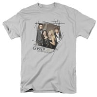GOSSIP GIRL/LINE BORDER - S/S ADULT 18/1 - SILVER -