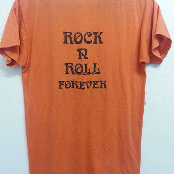 Sale Vintage 70s 80s The Varsity Rock n Roll Forever We Serve Memories Varsity Stadium Concert Promo TShirt
