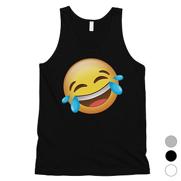 Emoji-Laughing Mens Cute Funny Humor Halloween Tank Top Friend Gift