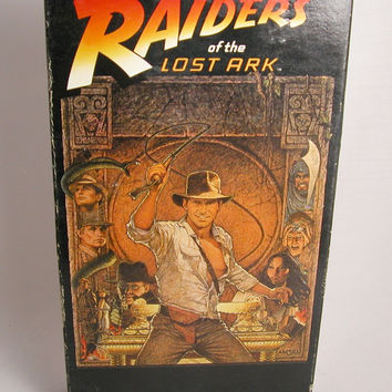 Vintage Raiders of the Lost Ark Vintage VHS Tape - 1981 - Harrison Ford
