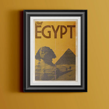 Vintage/Retro Travel Poster Egypt - Instant Download & Print. Collect the set!